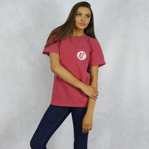 Delta Gamma Comfort Colors Pocket T-Shirt