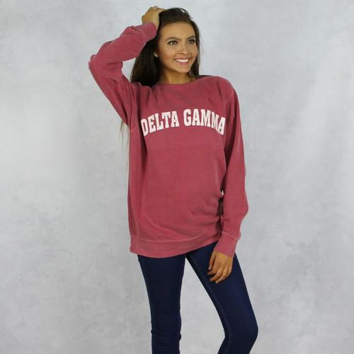 Delta Gamma Comfort Colors Sweatshirt in Red