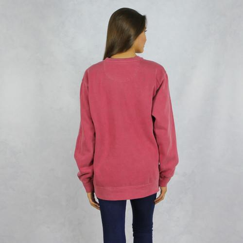 Gamma Phi Beta Comfort Colors Sweatshirt in Red Back