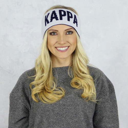 Kappa Kappa Gamma Reversible Headband and Ear Warmer White