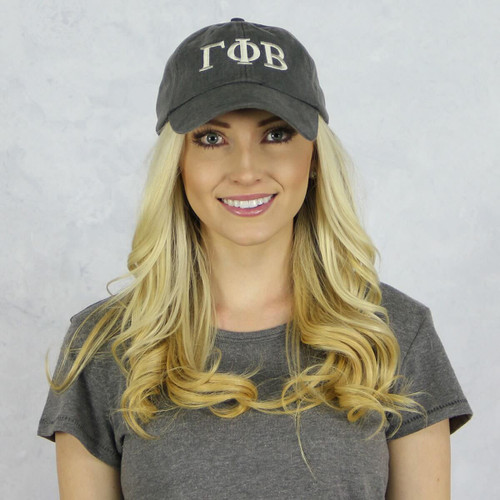Gamma Phi Beta Baseball Hat in Gray