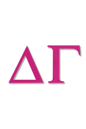 Delta Gamma Jumbo Sticker in Hot Pink