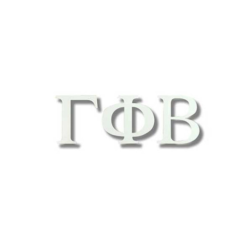 Gamma Phi Beta White Letter Sticker