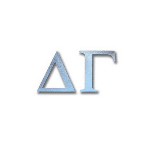 Delta Gamma Letter Sticker in Silver