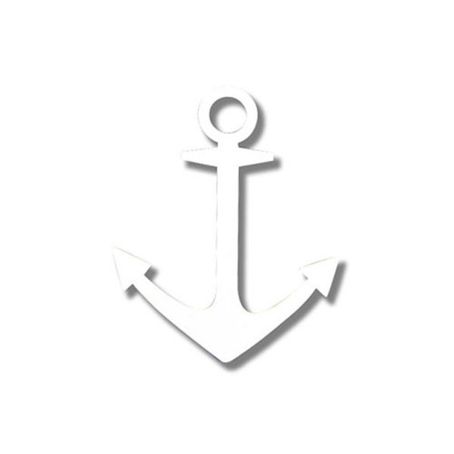 Delta Gamma White Anchor Sticker