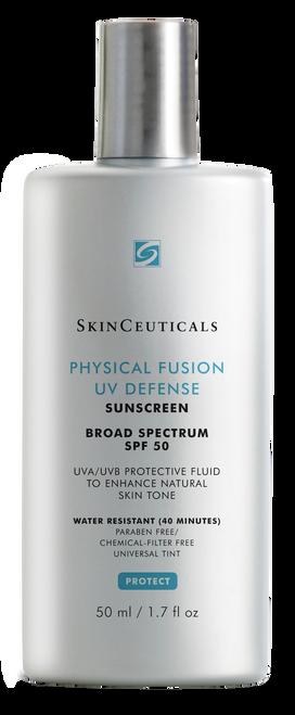 Broad-spectrum UVA/UVB sunscreen fluid to enhance natural skin tone.