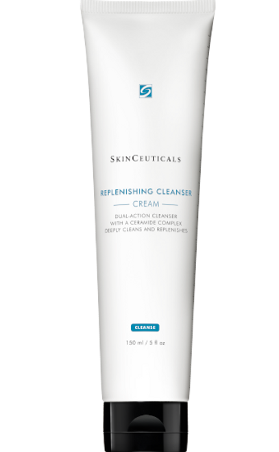 Dual-action face wash for combination skin with a ceramide complex deeply cleanses and locks in hydration to leave skin feeling replenished