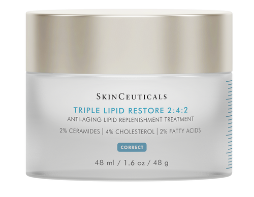 A patented anti-aging cream to refill cellular lipids and nourish dry skin. U.S. Patent No. 10,137,073.