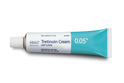 Tretinoin Cream in a 0.05% concentration. Valid prescription required.