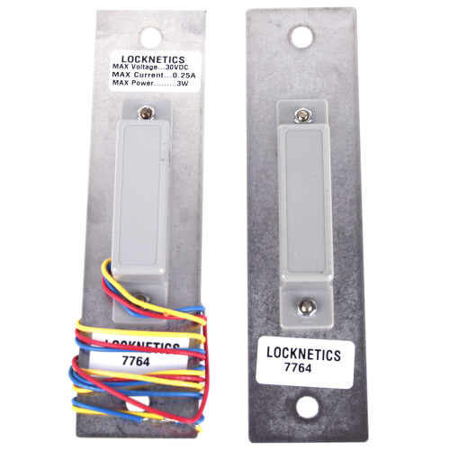 Magnetic Door Position Switch, Concealed Flush Mount, Single Pole Double Throw