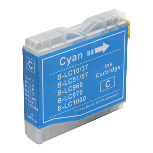 Compatible LC1000C Cyan Ink Cartridge For Brother Printers
