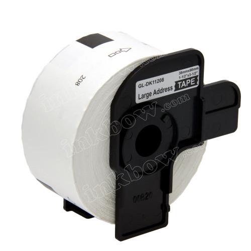 Compatible Brother DK-11208 Large Address Labels (Black On White)