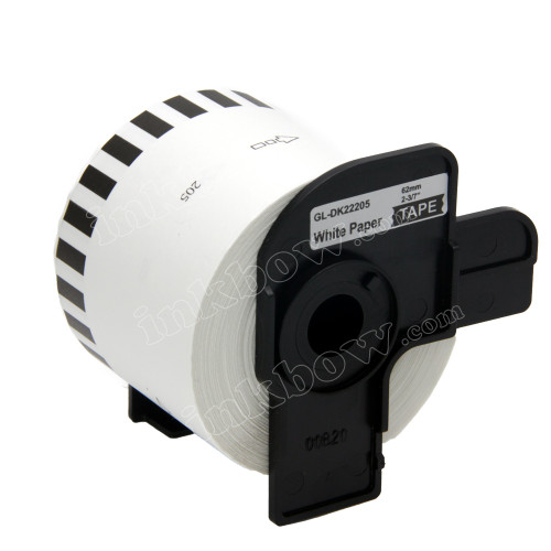 Compatible Brother DK-22205 Continuous Length Paper Tape (Black On White)