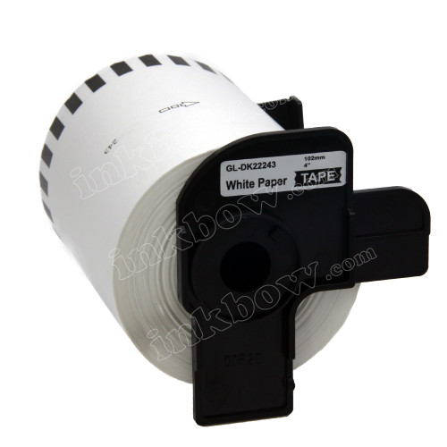 Compatible Brother DK-22243 Continuous Length Paper Tape (Black On White)