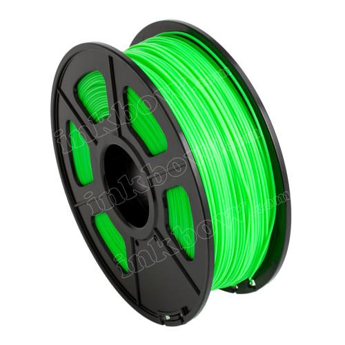 1.75mm Fluorescent Green Glow-in-the-Dark PLA Filament for 3D Printers
