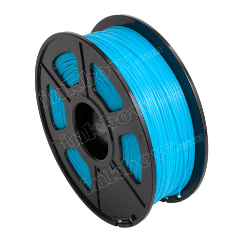 1.75mm Fluorescent Blue Glow-in-the-Dark ABS Filament for 3D Printers