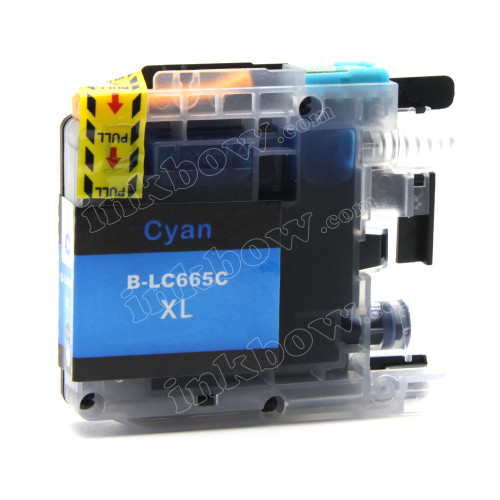 Compatible LC665XL-C Cyan Ink Cartridge for Brother Printers (High Yield)