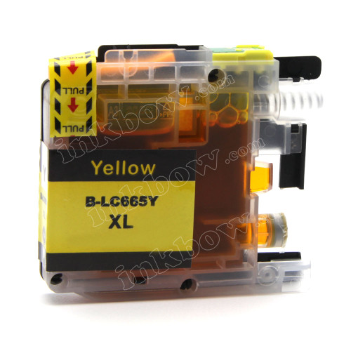 Compatible LC665XL-Y Yellow Ink Cartridge for Brother Printers (High Yield)