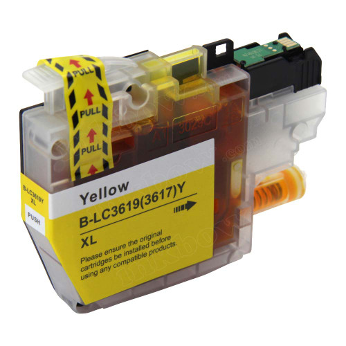 Compatible LC3619XL-Y Yellow Ink Cartridge for Brother Printer (High Yield)