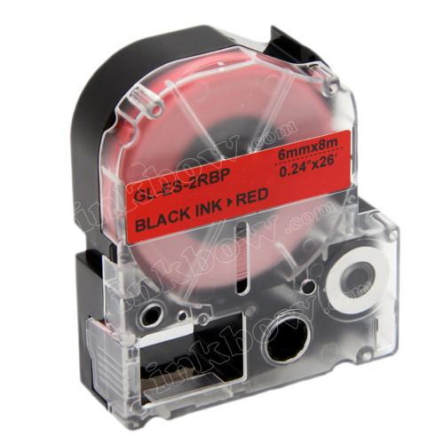 Compatible LK-2RBP Label Tape for Epson Printer (6mm Black on Red)