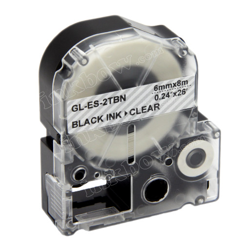 Compatible LK-2TBN Label Tape for Epson Printer (6mm Black on Clear)