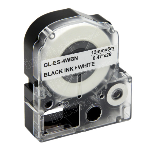 Compatible LK-4WBN Label Tape for Epson Printer (12mm Black on White)