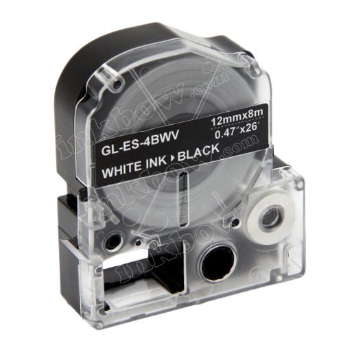 Compatible LK-4BWV Label Tape for Epson Printer (12mm White on Black)