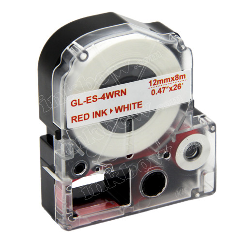 Compatible LK-4WRN Label Tape for Epson Printer (12mm Red on White)