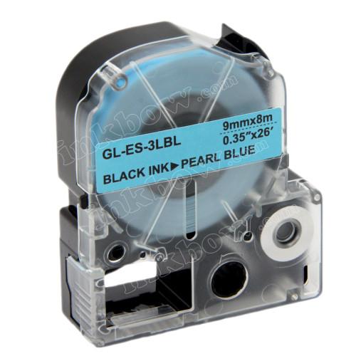 Compatible LK-3LBL Label Tape for Epson Printer (9mm Black on Pearl Blue)