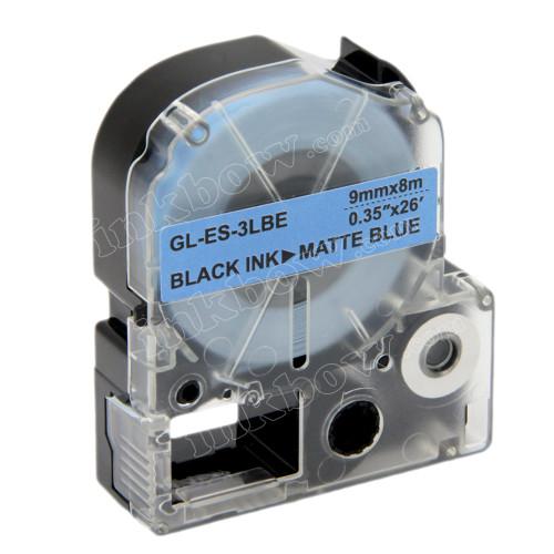 Compatible LK-3LBE Label Tape for Epson Printer (9mm Black on Matte Blue)