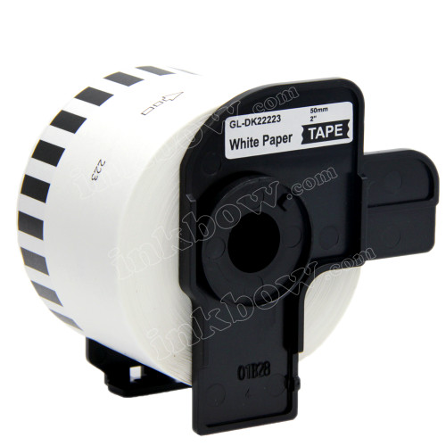 Compatible DK-22223 Continuous Length Paper Tape for Brother Printer (Black on White)