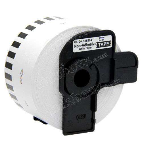 Compatible DK-N55224 Continuous Length Non-Adhesive Paper Tape for Brother Printer (Black on White)