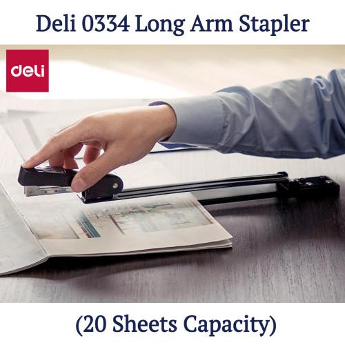 Deli 0334 Long Arm Stapler (20 Sheets Capacity)