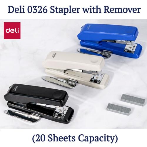 Deli 0326 Medium Size Stapler with Remover