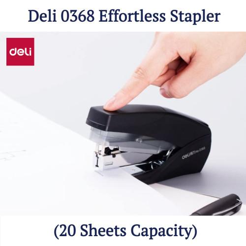 Deli 0368 Effortless Stapler (20 Sheets Capacity)