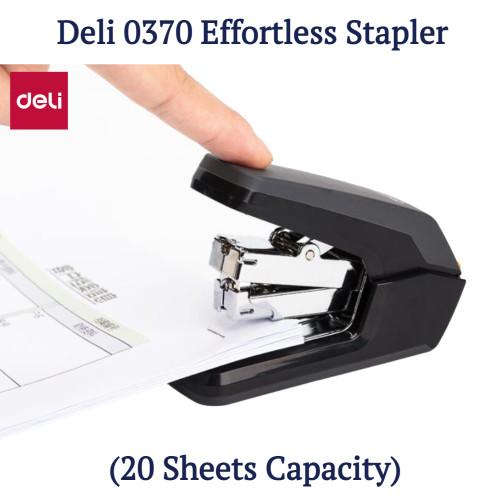 Deli 0370 Effortless Portable Stapler (20 Sheets Capacity)
