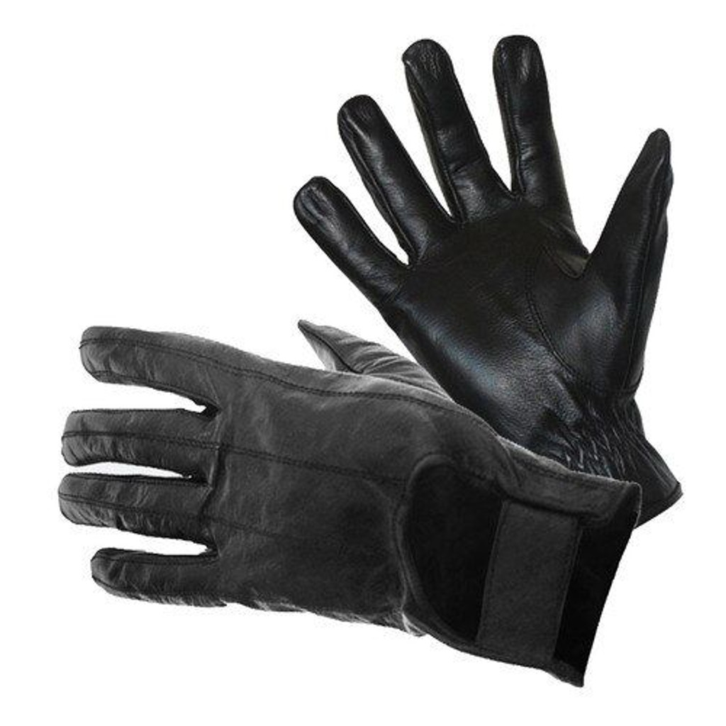 Carrera - Full Finger Leather Motorcycle Gloves with velcro tab