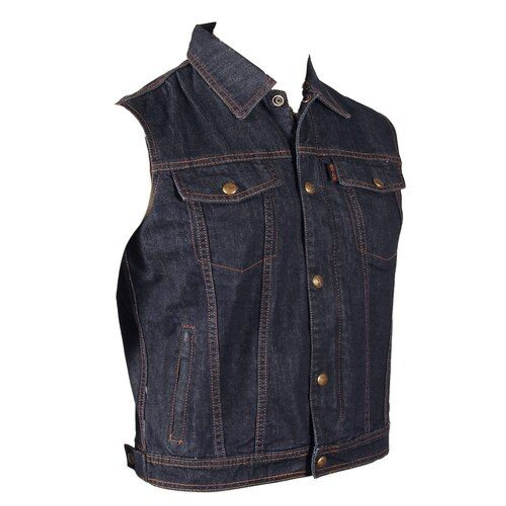 Blue Denim Motorcycle Vest (S-XL ONLY)