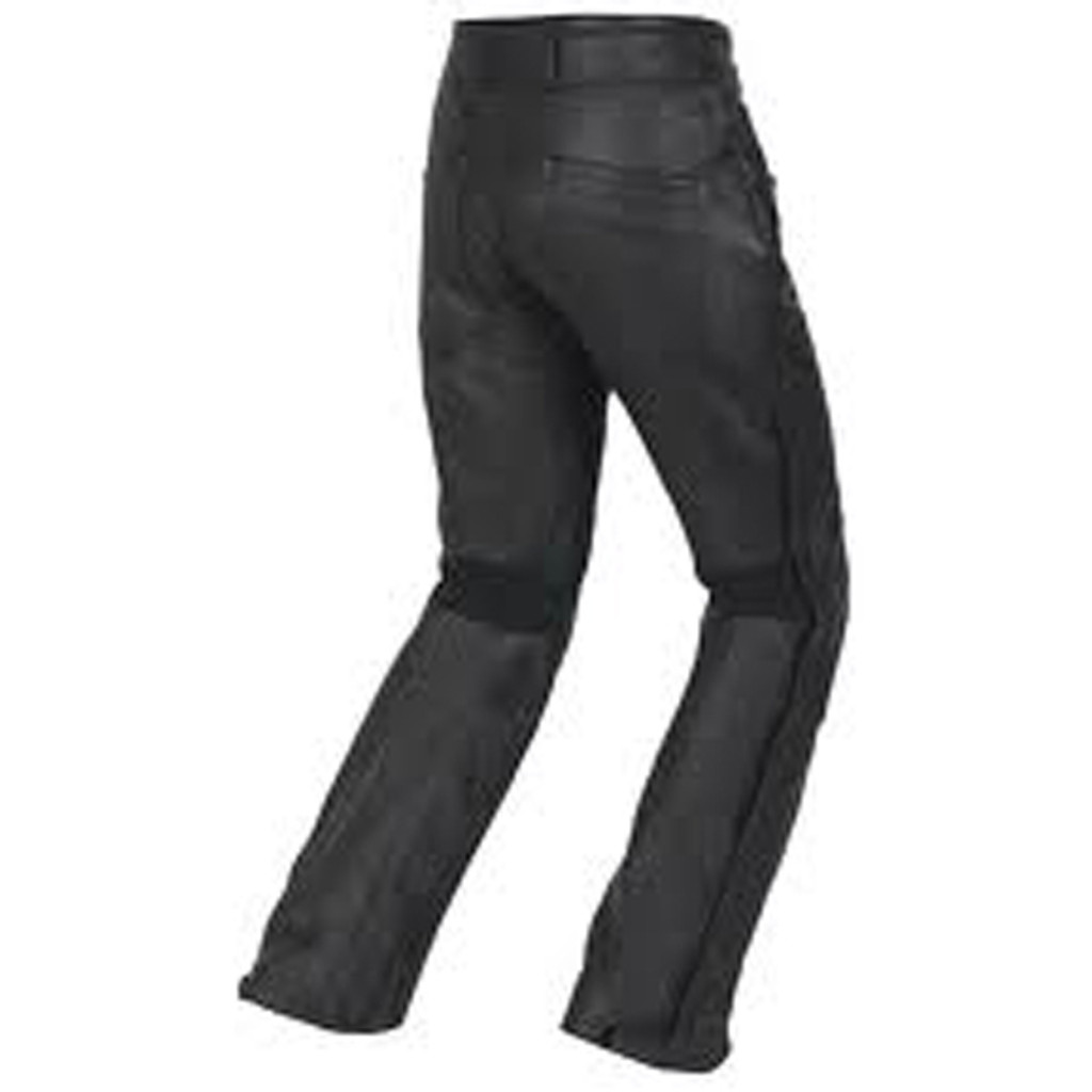 Atomic - Mens Black Leather Biker Pants - back