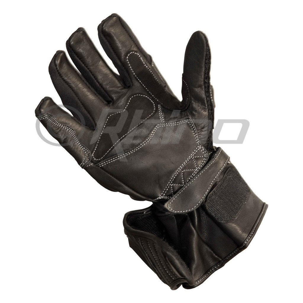 Black Talons - Leather summer long glove with knuckle and wrist protection