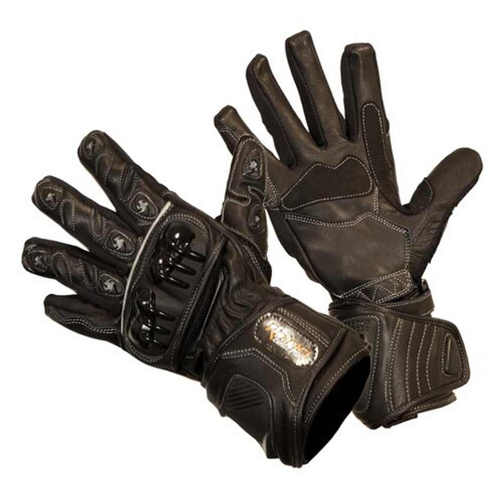 Black Talons - Motorcycle Leather Summer Long Glove