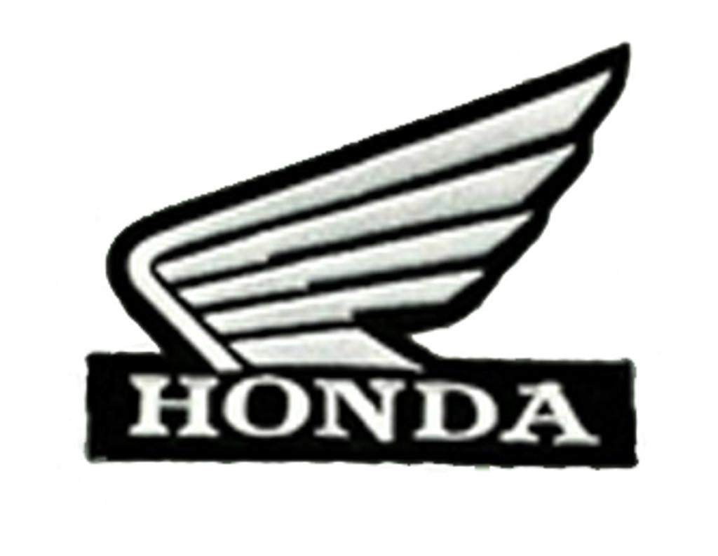 HONDA Black & White Wings Logo Biker Embroidered Patch