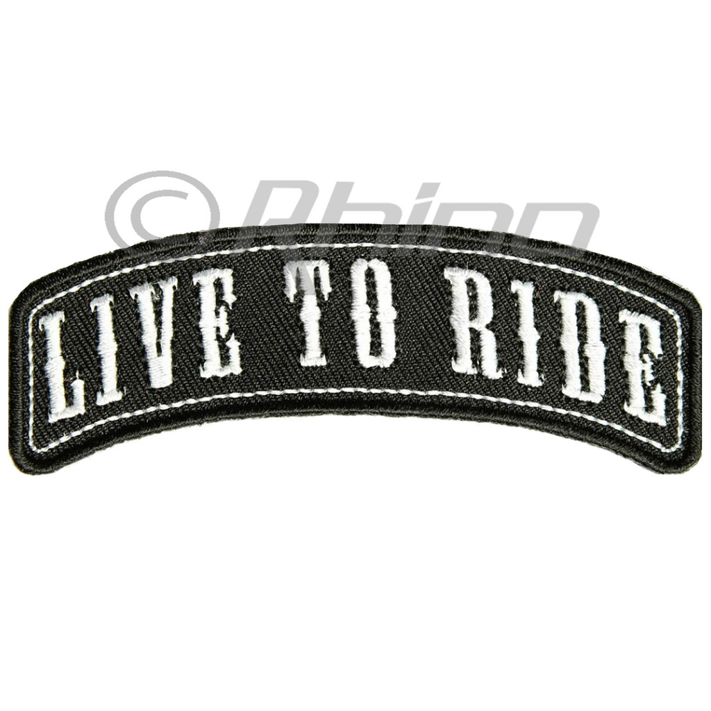 Live to Ride Rocker Motorcycle Patch