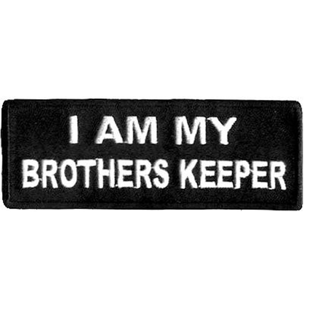 I am my brothers Keeper Motorcycle Patch