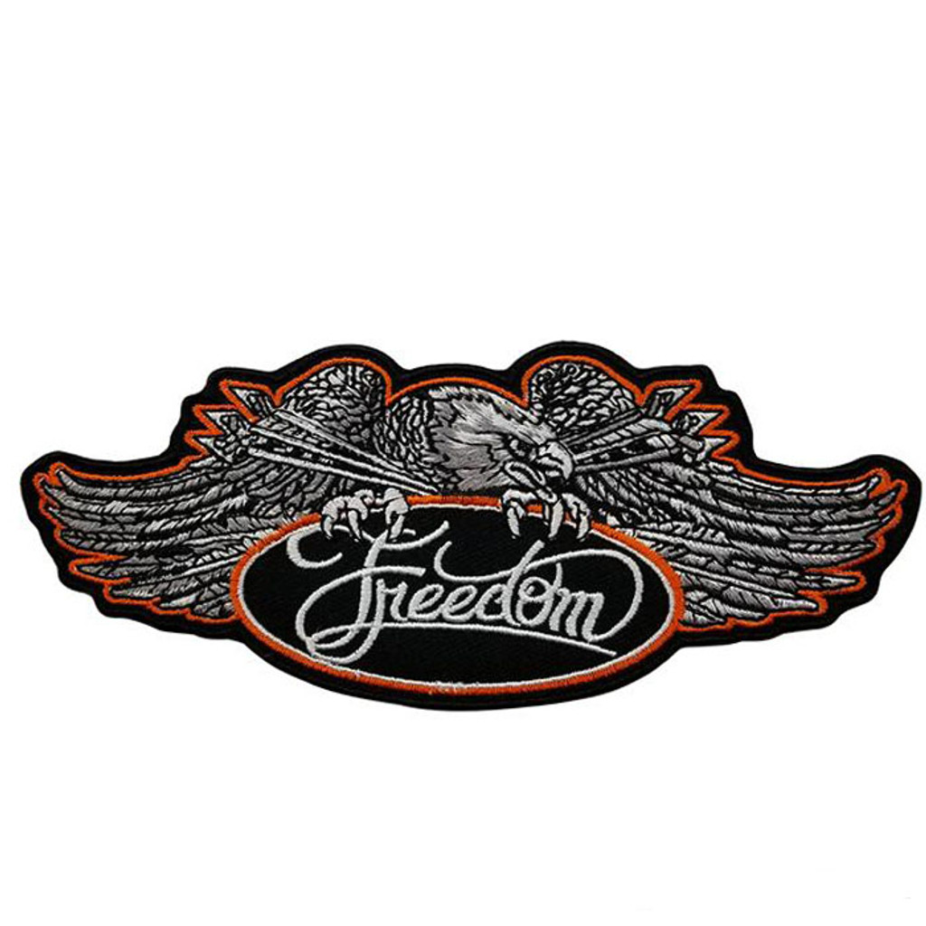 Eagle & Freedom Motorcycle Patch