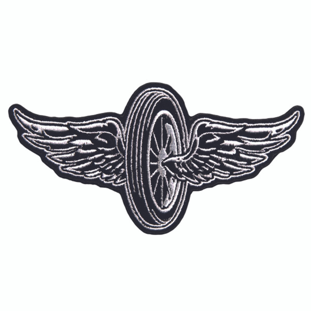 Flying Wheel / Wheel with Wings Embroidered Patch