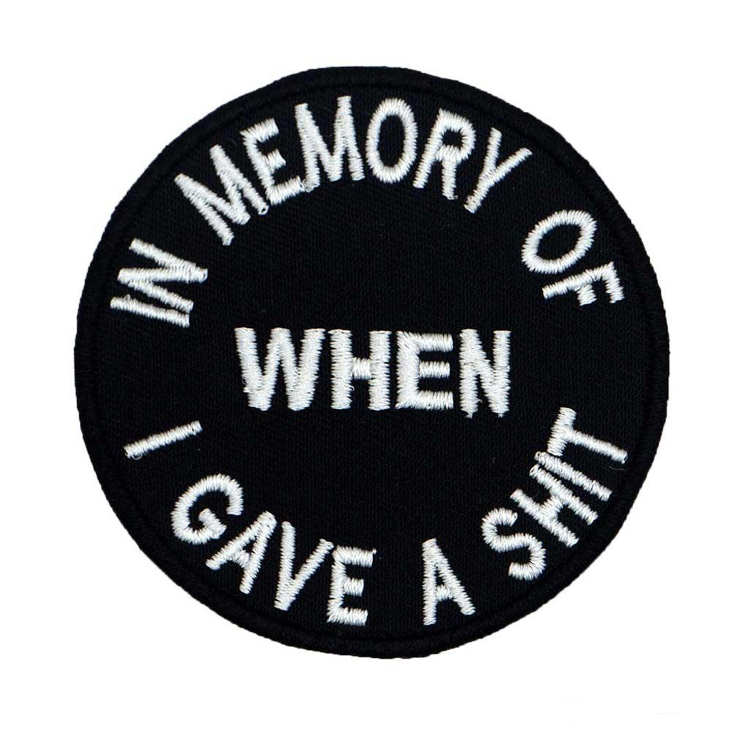 In Memory of when I Motorcycle Biker Patch
