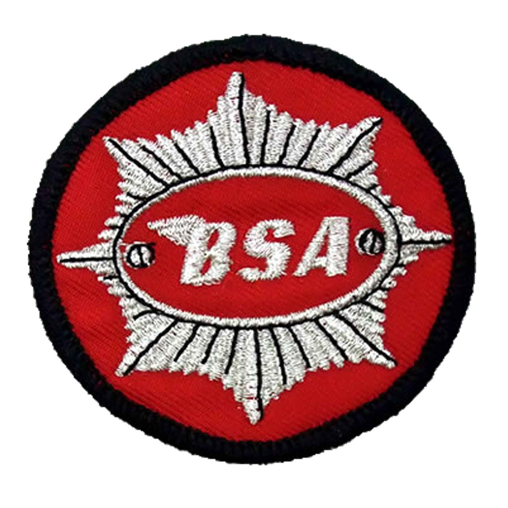 BSA Motorcycle Embroidered Patch- circle