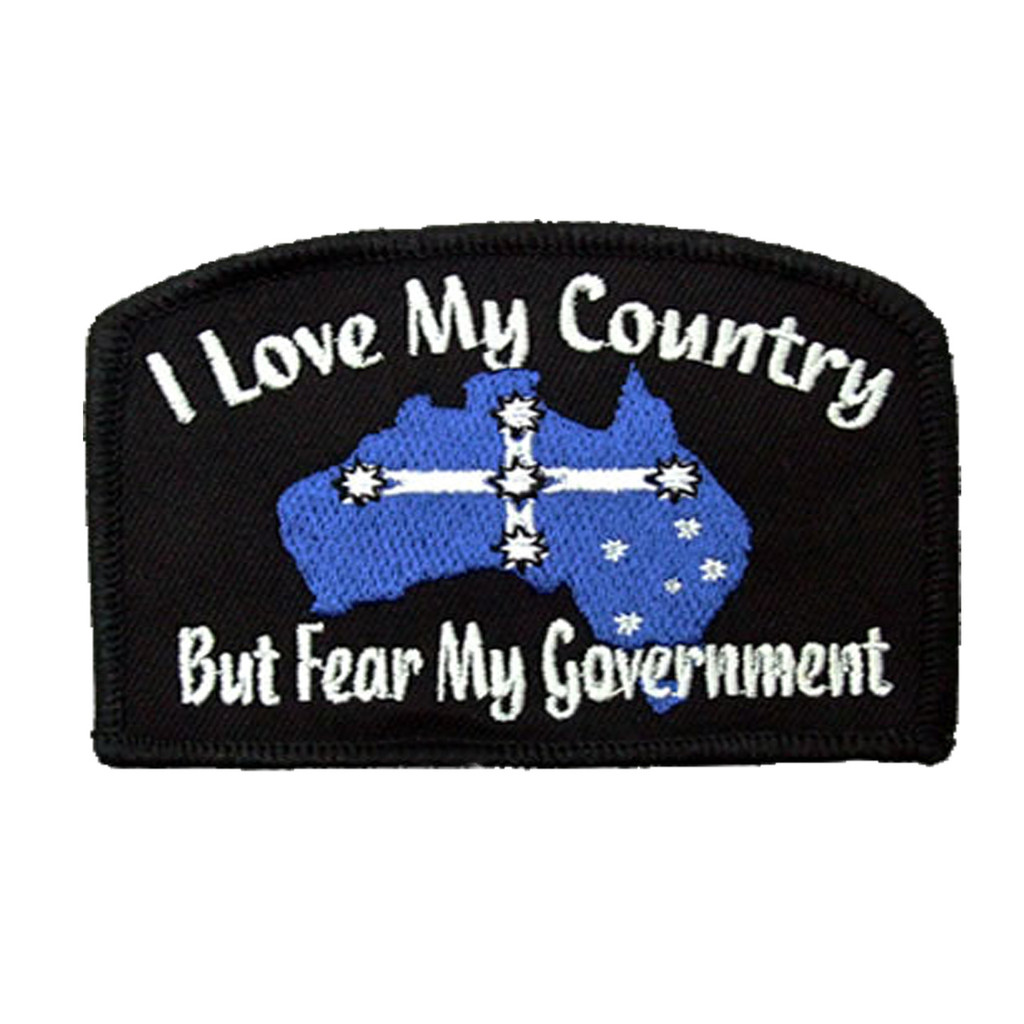 I Love My Country embroidered patch