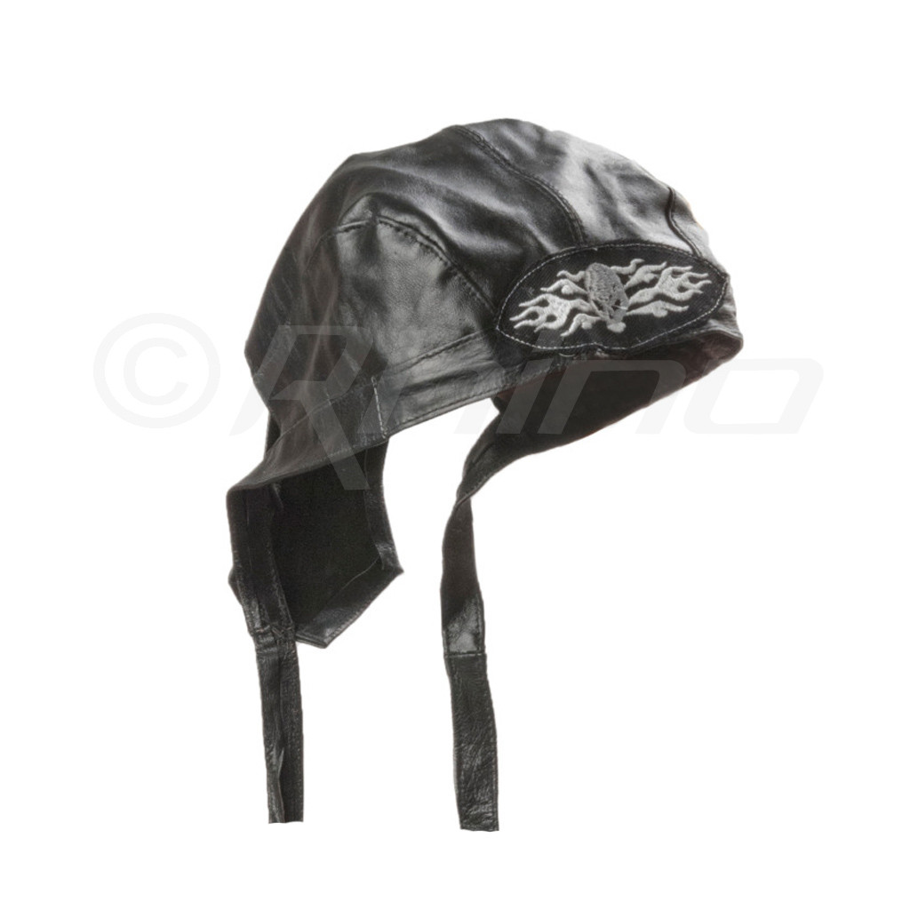 Leather Do-Rag Skull Cap - skull